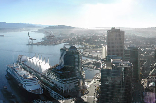 Panorama View Of Vancouver Harbour