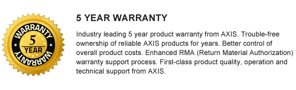 AXIS 3 Year Warranty
